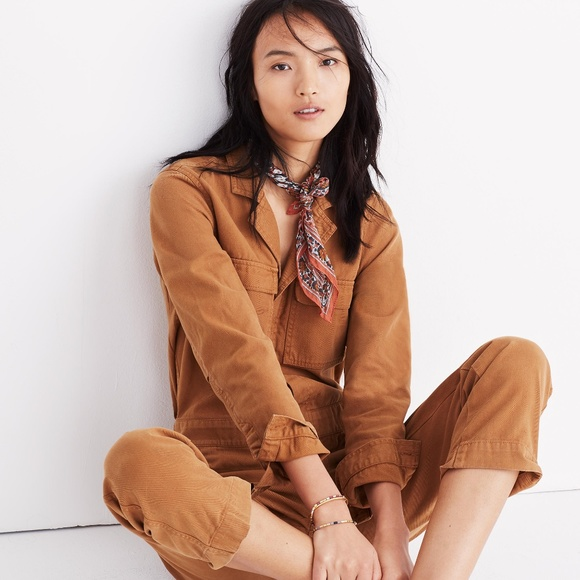 e72e87a7de9 Madewell Pants - Madewell Coverall Jumpsuit in Burnished Cedar
